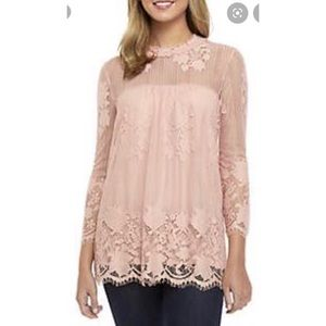 Chance or Fate Pink Lace Blouse